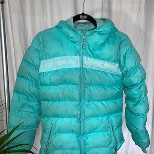 Girls ski and snow puffer jacket